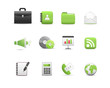 Business Icons, green color