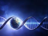 Fototapety Glowing earth DNA strand
