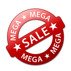 """MEGA SALE"" Marketing Stamp (special offers sticker price tag)"