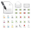 Website icons, message & document, page icons Set