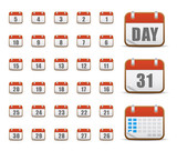 Website icons, calendar icons, icons Set, web buttons