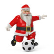 red santa cartoon footballer