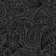 Paisley black seamless pattern