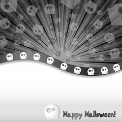 Haloween background with skulls and place for text