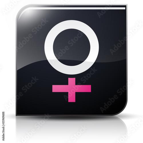 Symbole glossy vectoriel genre féminin