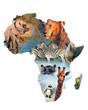 Fototapeten,afrika,kontinent,collage,formular