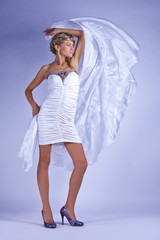 A slender girl