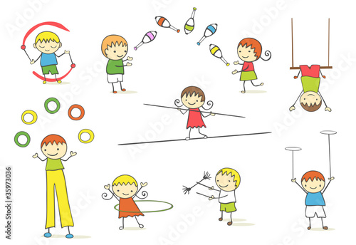 Juggling kids
