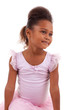 Cute little African Asian girl with folded arms