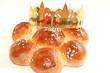 Leinwandbild Motiv Dreikönigskuchen mit Krone