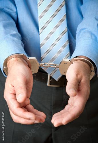 White Collar Criminal Under Arrest
