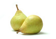 Comice pears on white background