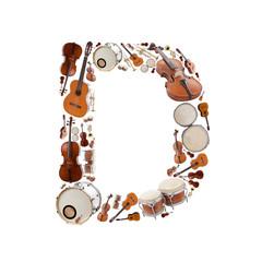 Musical instruments alphabet