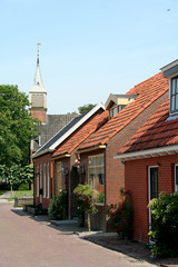 View on the Dutch village of Zoutkamp