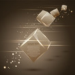 abstract vector 3d cubes
