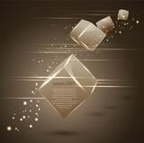 abstract vector 3d cubes