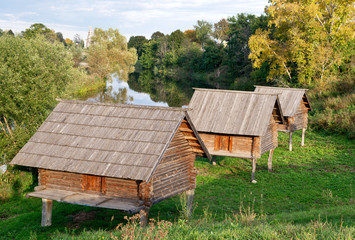 Barns on stilts, the Museum of Wooden Masterpieces in the ancien