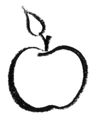 sketched apple