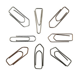 metallic paper clips variation