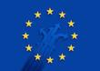 Europa *** EU-Sternenbanner + Richtungsfeile