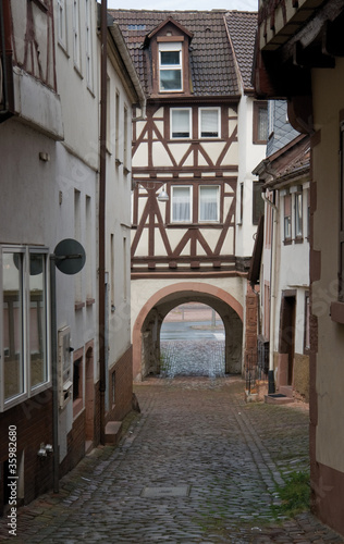 architectural detail in Miltenberg