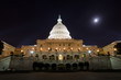 US Capitol building in moonlight
