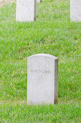 Unknown soldier gravestones in Arlington Cemetery