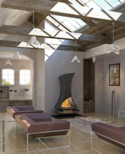 Fireplace & Loft