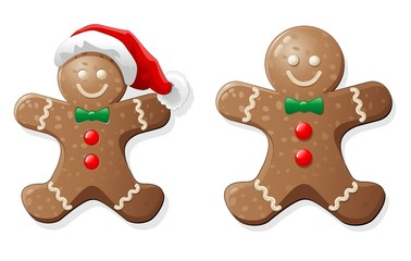 Natale Biscotto Pupazzo-Gingerbread Man Cookie-Vector