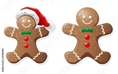 Fototapeta Natale Biscotto Pupazzo-Gingerbread Man Cookie-Vector