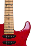 Red Old Guitar / Isolated