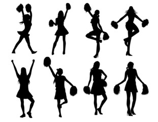 Cheerleaders! Vector / Clip Art