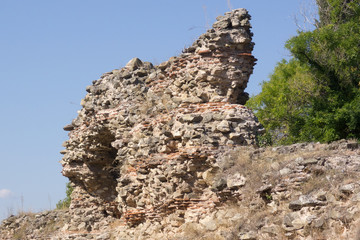Ruins of  the ancient roman fortress in Hissarya - Bulgaria