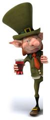 Lutin irlandais et bière
