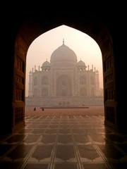 beautiful view of the Taj Mahal, Agra - India