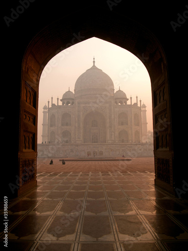 beautiful view of the Taj Mahal, Agra - India