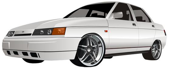 Vector modern car
