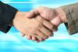shaking hands .