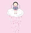 Hada leyendo un libro encima de una nube