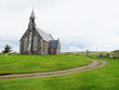 Church with Bell-Tower on the Hill in Ireland