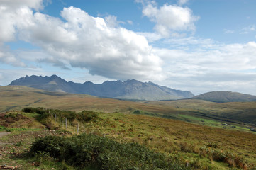 Cuillins from near Drynoch