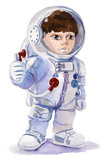 cute astronaut boy