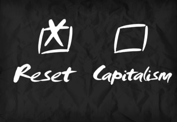 Reset Capitalism checkbox dashboard sign
