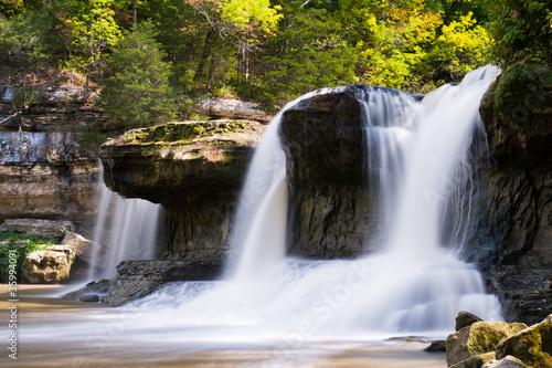 Fototapeta Alongside the Waterfall