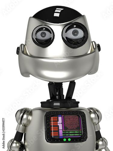 Foto op Canvas Robots funny robot portrait