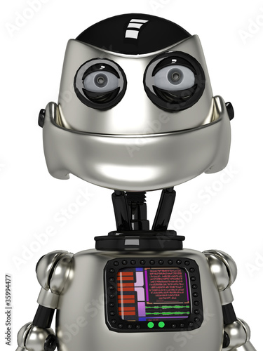 Keuken foto achterwand Robots funny robot portrait