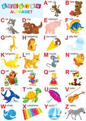 English alphabet for children