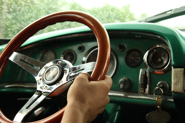 Driving a old car
