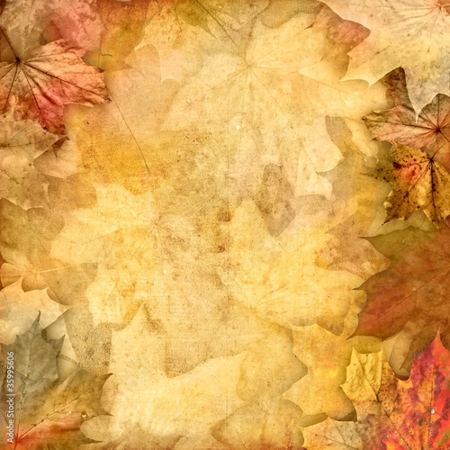 vintage retro leafy background