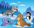 Winter scene with various animals 2